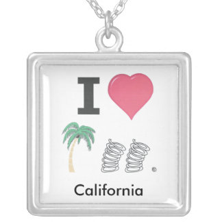 I Hart Palm Springs Silver Plated Necklace