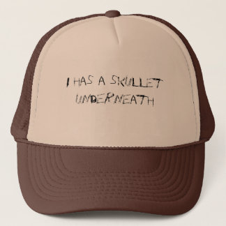 I has a skullet trucker hat