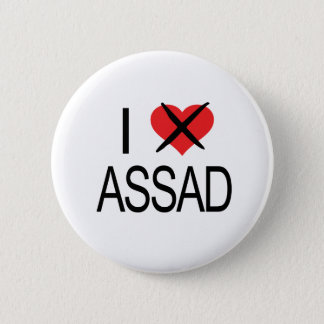 I HATE Assad Tank Top 2 Inch Round Button