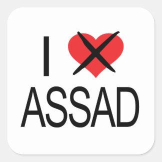 I HATE Assad Tank Top Square Sticker