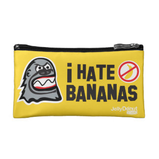 I hate bananas makeup bags