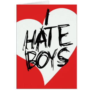 I Hate boys Note Card