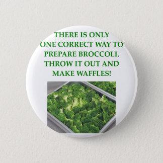 i hate broccoli 2 inch round button
