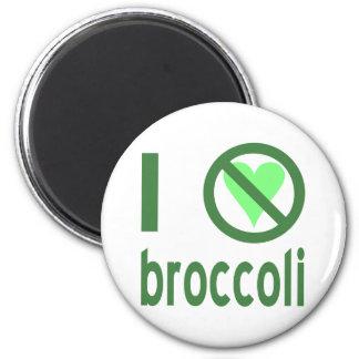 I Hate Broccoli 2 Inch Round Magnet
