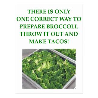 i hate broccoli postcard