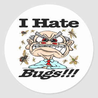 I Hate Bugs! Classic Round Sticker