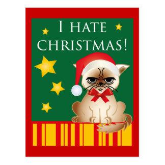 I hate christmas! Merry anti-Christmas card Postcards
