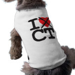 I Hate CT - Connecticut Dog T-shirt