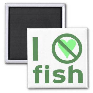 I Hate Fish Magnet
