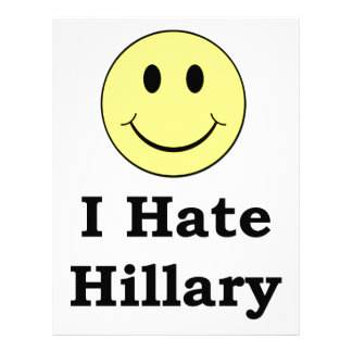 I Hate Hillary  happy smiley face Letterhead