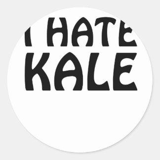 I Hate Kale Classic Round Sticker