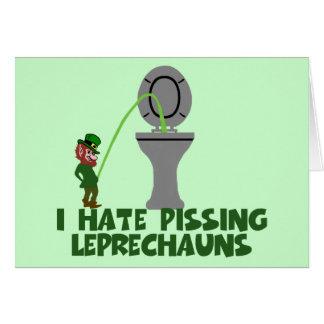 I hate Leprechauns Card