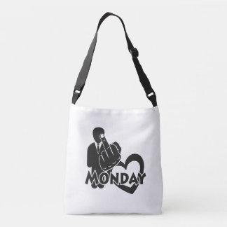 I hate Monday! Crossbody Bag