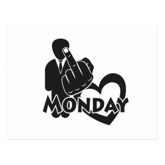 I hate Monday! Postcard