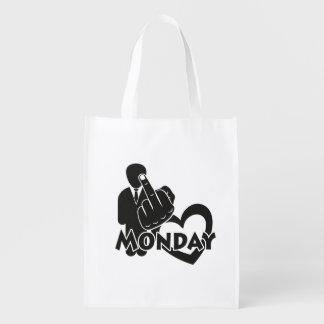 I hate Monday! Reusable Grocery Bag