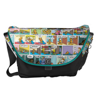 """I Hate Mondays"" Garfield Comic Strip Commuter Bag"