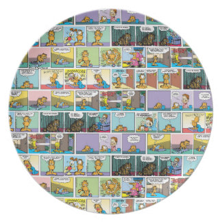 """I Hate Mondays"" Garfield Comic Strip Dinner Plates"