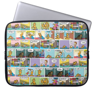 """I Hate Mondays"" Garfield Comic Strip Laptop Sleeve"