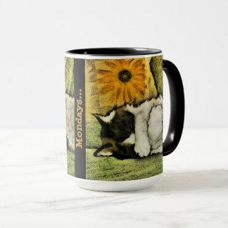 I hate Mondays! Monday Mug! Cute Cats. Work Mug