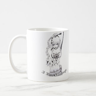 I Hate Mondays with ball and chain woman graphic Coffee Mug