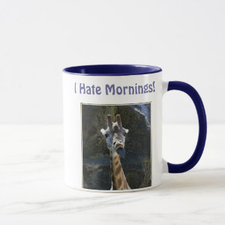 I Hate Mornings, Giraffe Sticking Tongue Out Mug