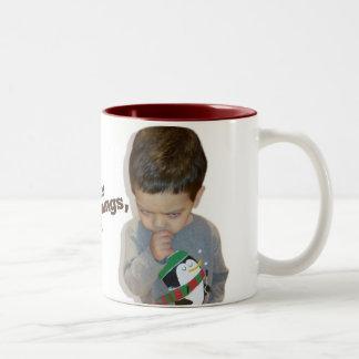 I hate mornings, too (coffee mug) Two-Tone coffee mug