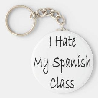 I Hate My Spanish Class Keychain
