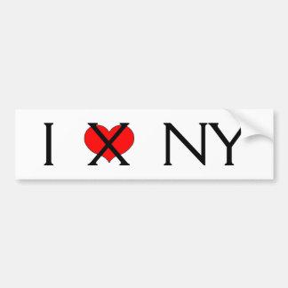 """I Hate NY"" Bumper Sticker"