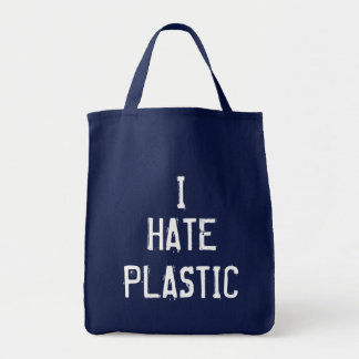 I Hate Plastic Tote Bag