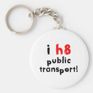 I Hate Public Transport Keychain