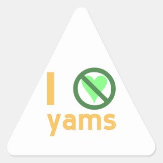 I Hate Sample Triangle Sticker