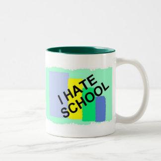 I HATE SCHOOL, HATE SCHOOL, SCHOOL SUCKS! Two-Tone COFFEE MUG