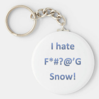 I Hate Snow Style 1 Keychain
