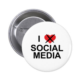I Hate Social Media 2 Inch Round Button