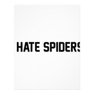 I Hate Spiders Letterhead