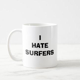 I HATE SURFERS BASIC WHITE MUG