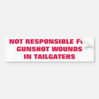 I HATE TAILGATERS BUMPER STICKER