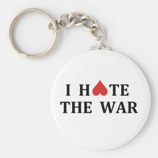 I hate the war keychain
