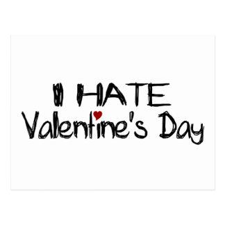I Hate Valentine'S Day Postcard