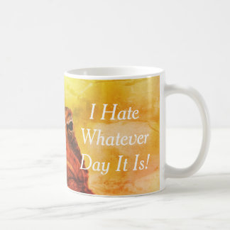 """I Hate Whatever Day It Is"" Grumpy Toad Coffee Mug"