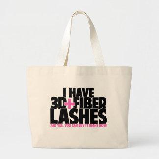 I have 3d + Fiber Lashes Large Tote Bag