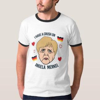 I have a crush on Angela Merkel - -  T-Shirt