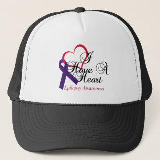 I Have A Heart Epilepsy Awareness Trucker Hat