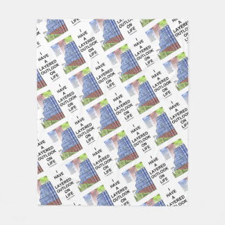 I Have A Layered Outlook On Life Grand Canyon Fleece Blanket