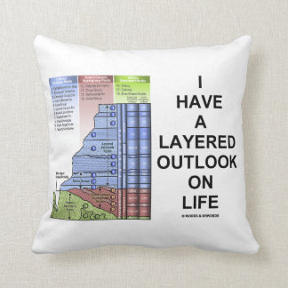 I Have A Layered Outlook On Life Grand Canyon Throw Pillow