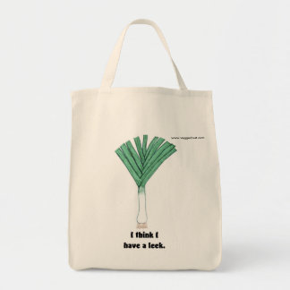 I have a leek tote bag