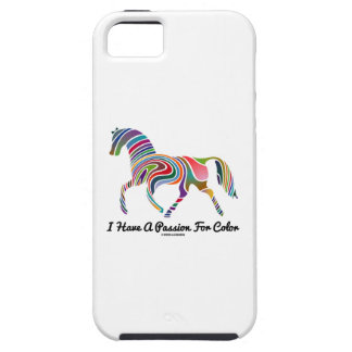 I Have A Passion For Color (Color Swirl Horse) iPhone 5 Case