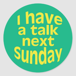 I Have a Talk Stickers