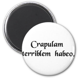 I have a terrible hangover 2 inch round magnet