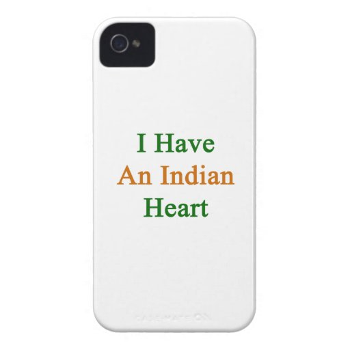 I Have An Indian Heart Blackberry Case